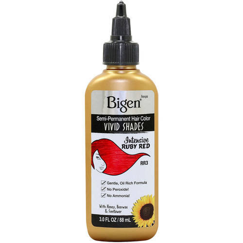 Bigen Semi Permanent Hair Color - Ruby Red, 3.0ml
