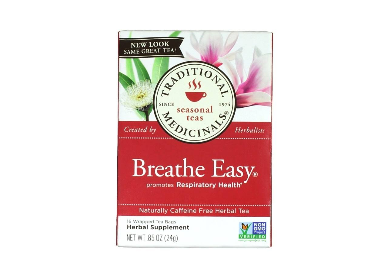 Traditional Medicinals Breathe Easy Herbal Tea - 16 Bags