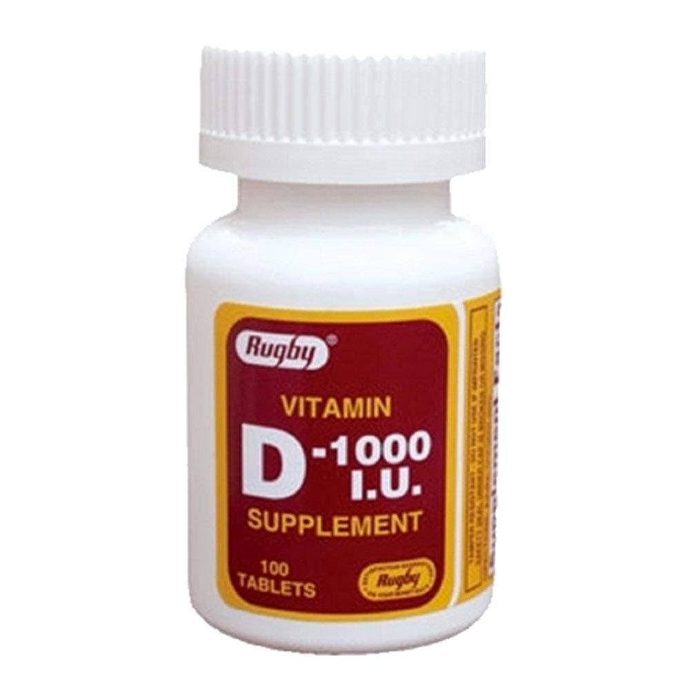Rugby Vitamin D 1000 IU Supplement - 100ct