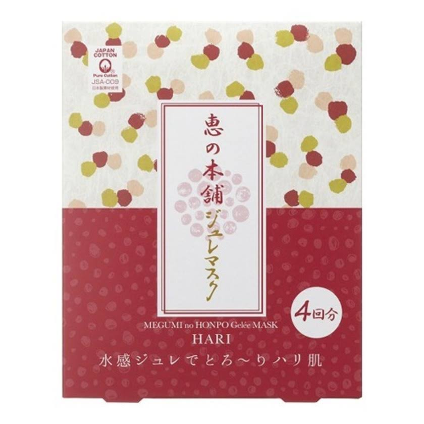 Megumi no Honpo Glowing Jelly Face Mask - 4 Sheet