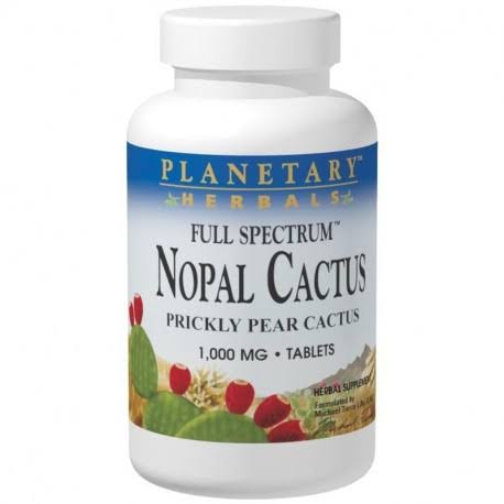 Planetary Herbals Nopal Cactus Full Spectrum Herbal Supplement - 120ct