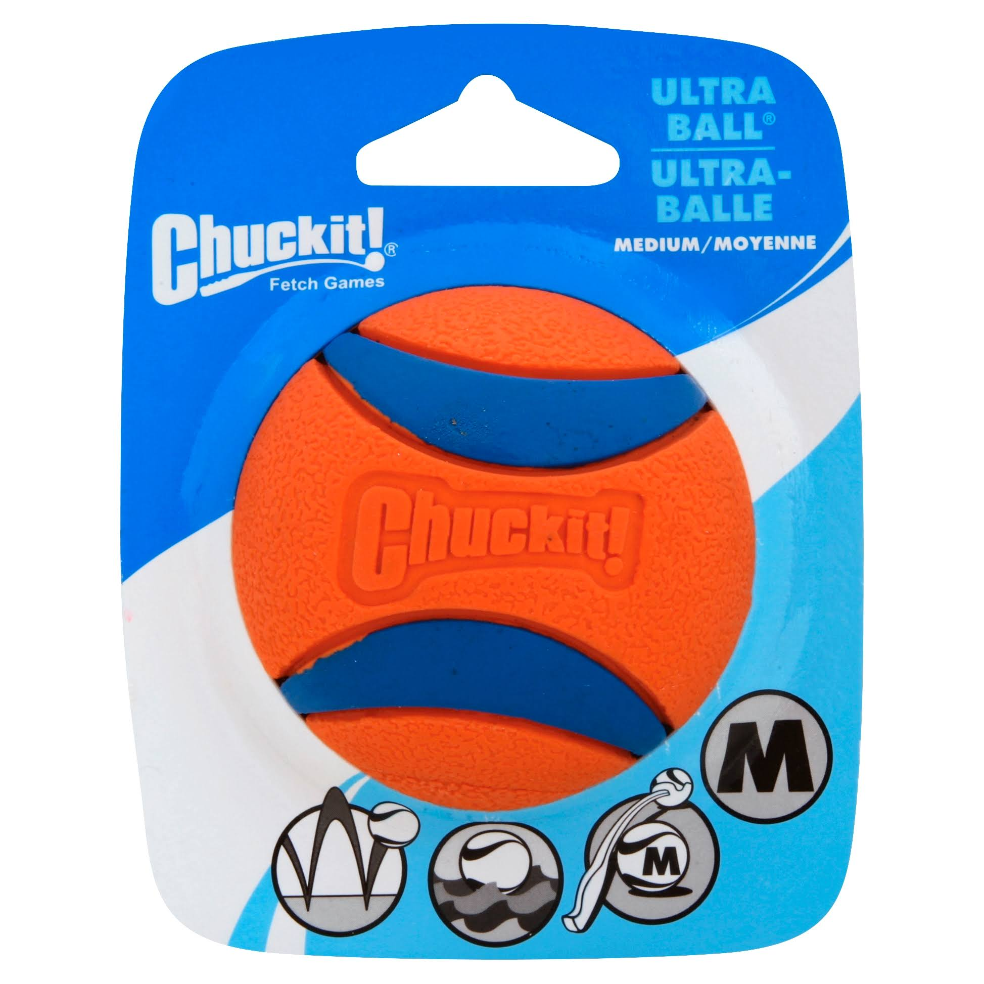 Chuckit Ultra Ball Dog Fetch Interactive Dog Toy - Medium