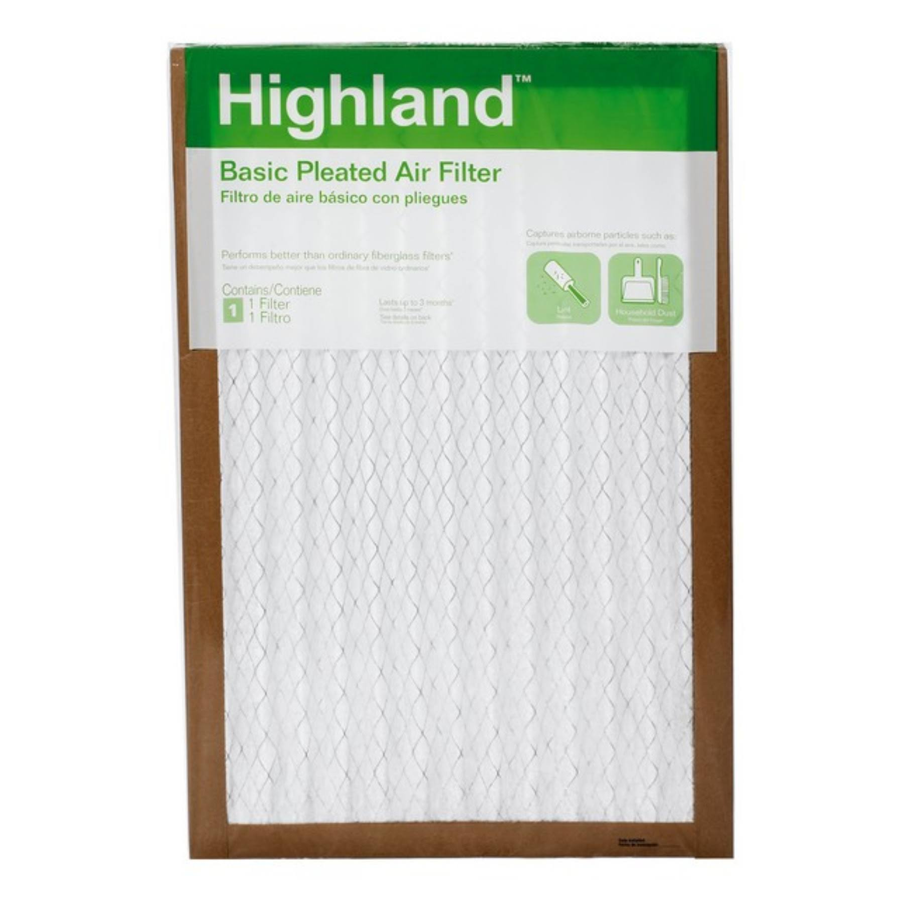 "3M FBA26DC-6 Filtrete Basic Pleated Furnace Filter - 20""x24"""