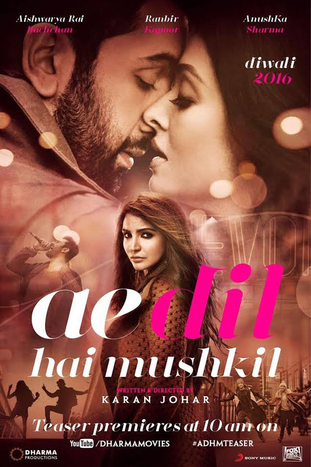Download AE DIL HAI MUSHKIL (2016) Full Movie In 1080p Blu-Ray