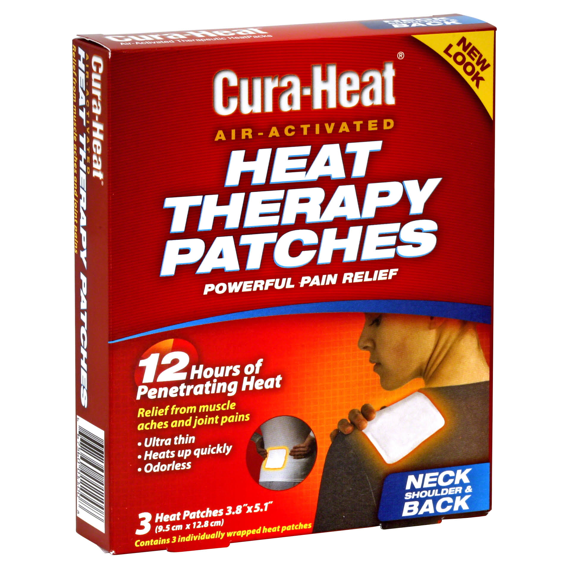 Cura Heat Multi Purpose Therapeutic Wrap - 3pk
