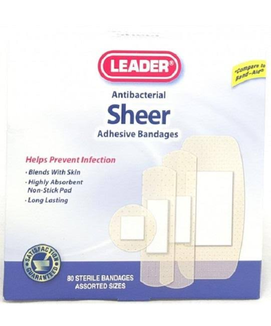 Leader Sheer Adhesive Bandages, Assorted, 80ct 096295126969A192