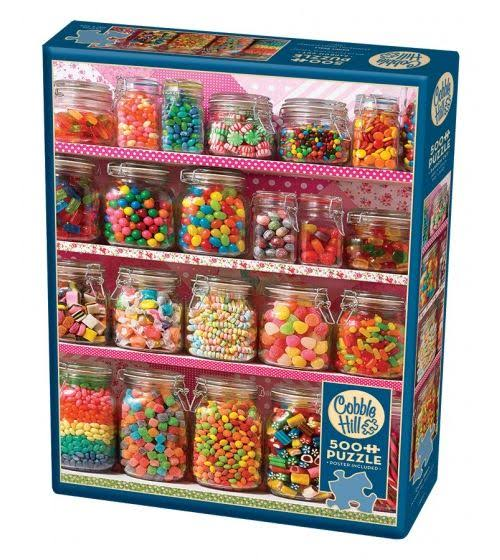 Cobble Hill Candy Shelf Jigsaw Puzzle Set - 500 pieces