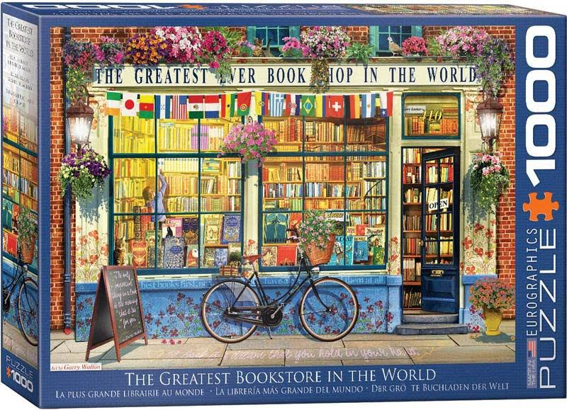 Eurographics The Greatest Bookstore in the World Jigsaw Puzzles Set - 1000pcs Set