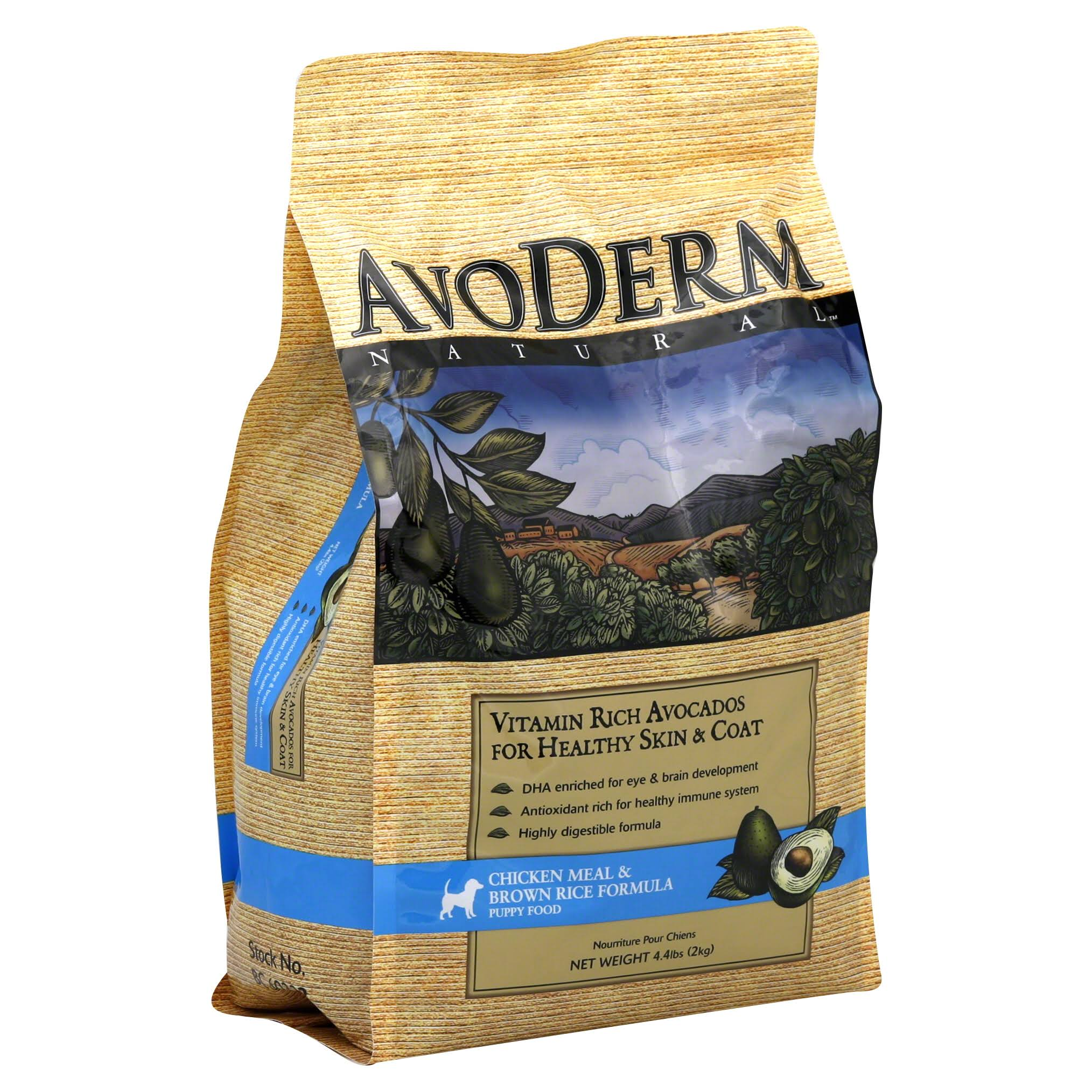 AvoDerm Natural Puppy Food - Chicken Meal and Brown Rice Formula, 4.4lbs