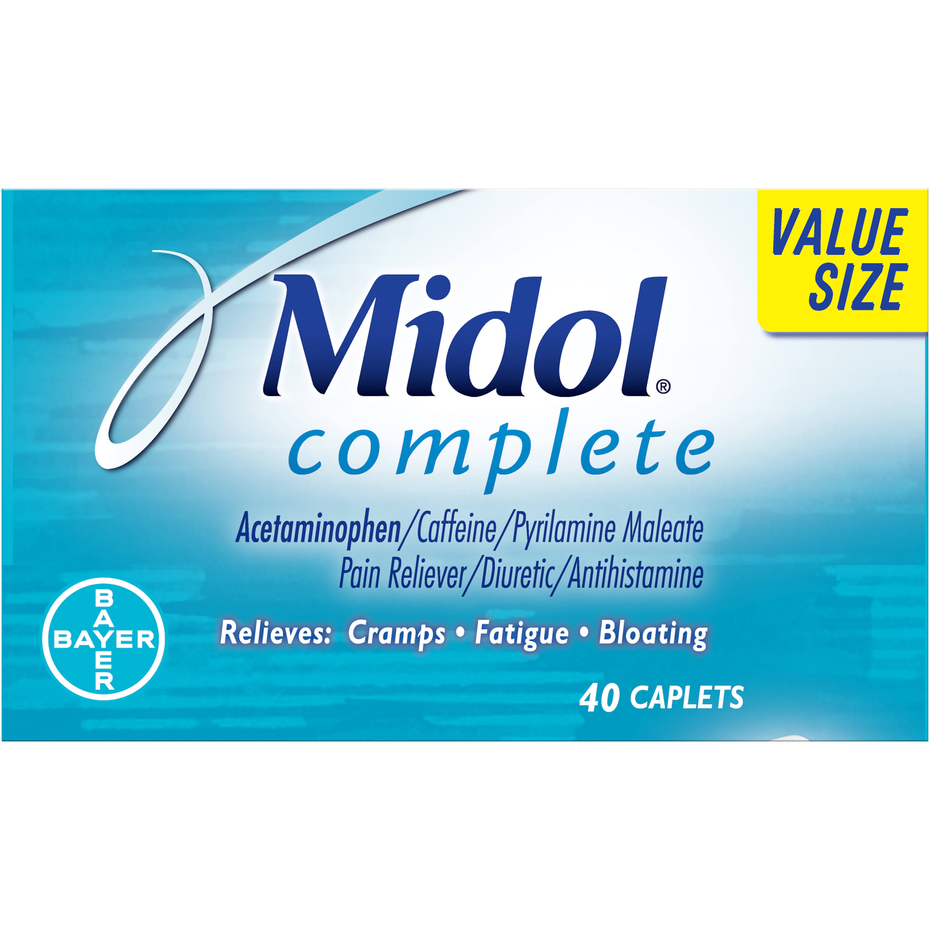 Midol Complete Maximum Strength Pain Reliever - 40 Caplets
