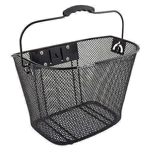Sunlite Front Mesh Bicycle Basket with Quick Release Bracket - Black