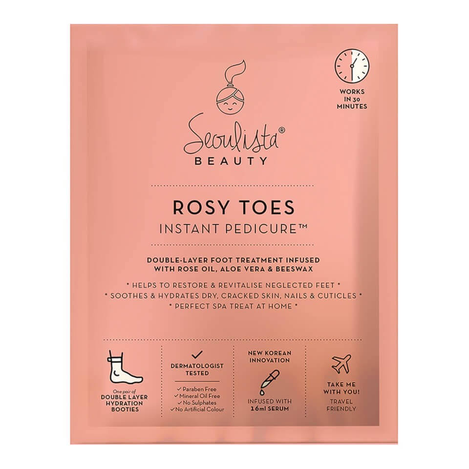 Seoulista Beauty Rosy Toes Instant Pedicure Foot Mask