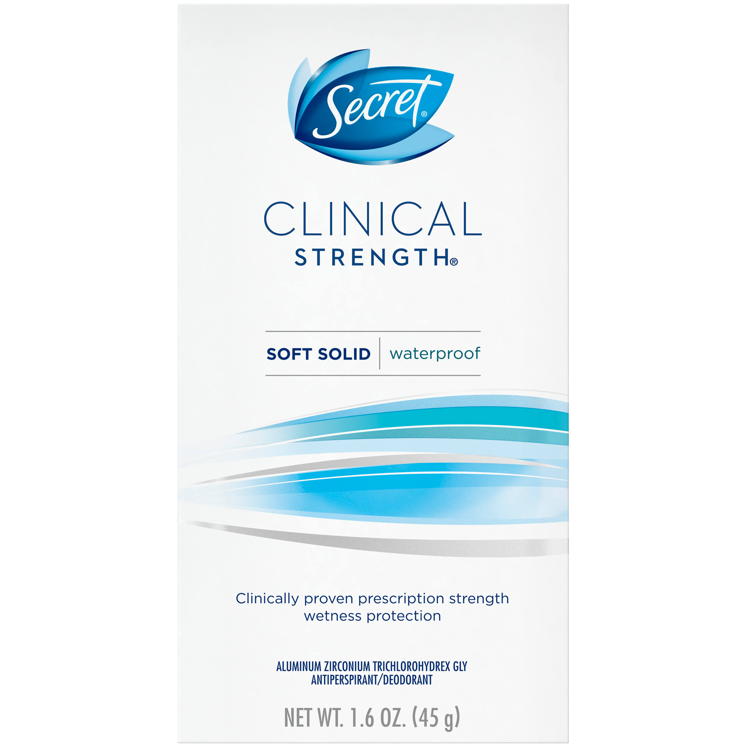 Secret Clinical Strength Deodorant - Smooth Solid Waterproof, 1.6oz