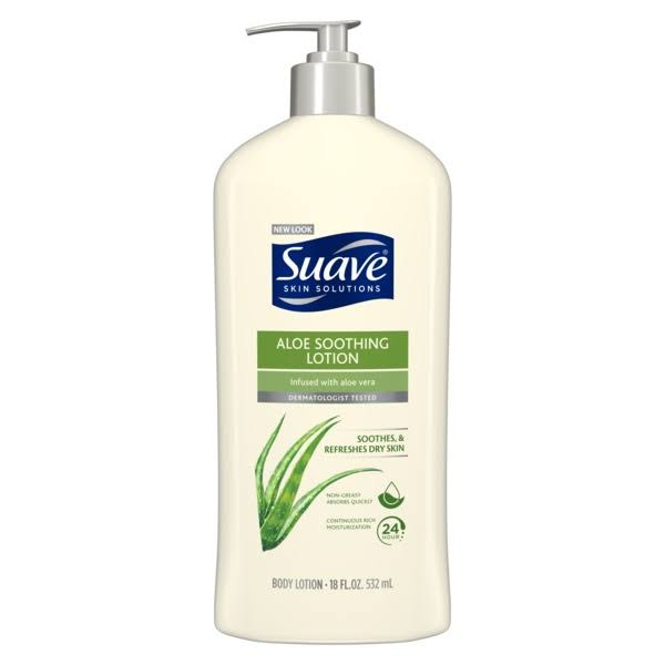 Suave Skin Solutions Soothing with Aloe Body Lotion - 18oz