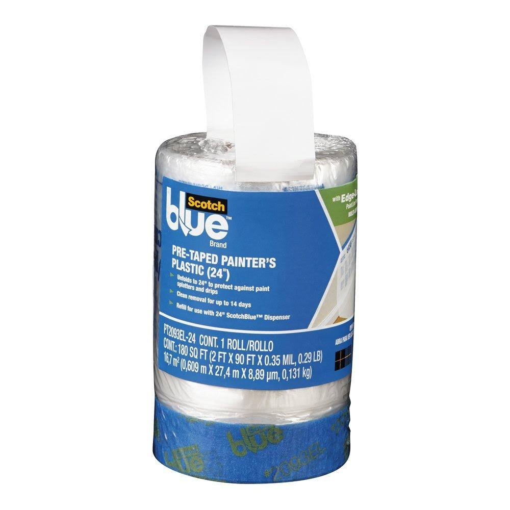 3M ScotchBlue Pre-Taped Painter's Plastic - 24ft