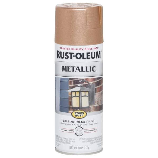 Rust Oleum Copper Spray Paint Metallic Finish - 11oz