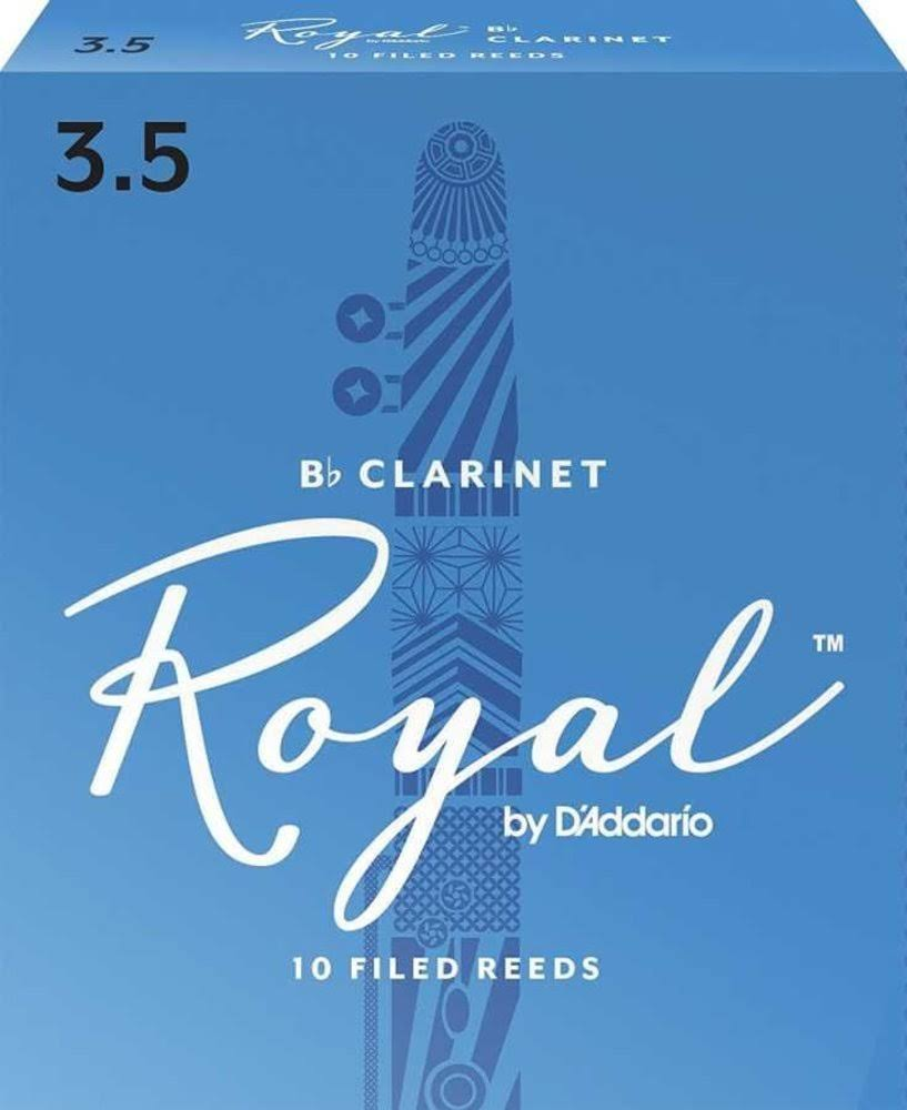 Royal D'Addario Bb Clarinet Reeds - Strength 3.5, 10-pack