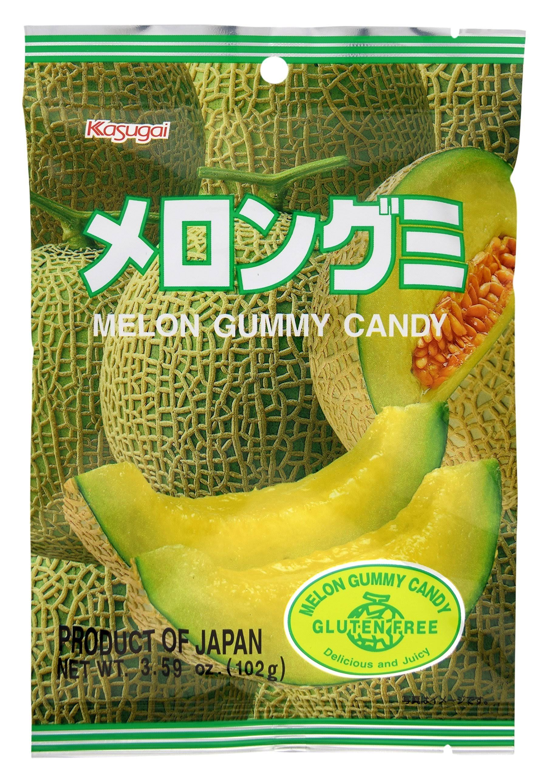 Kasugai Melon Gummy Candy - 102g