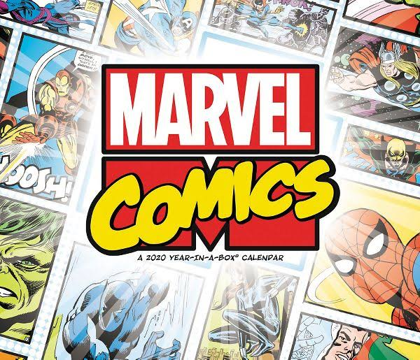 Year-In-A-Box History of Marvel Calendar - Calendars
