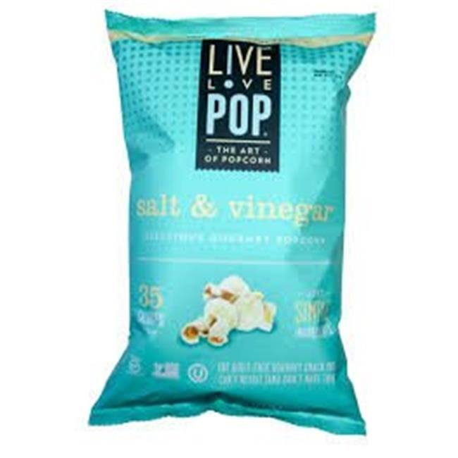 Live Love Pop Popcorn, Salt & Vinegar - 4.4 oz