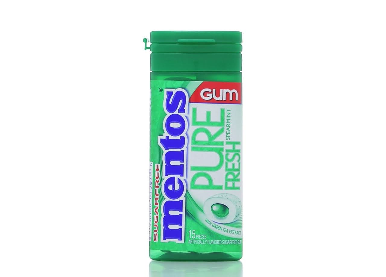 Mentos Pure Fresh Gum - Spearmint, 15 Pieces