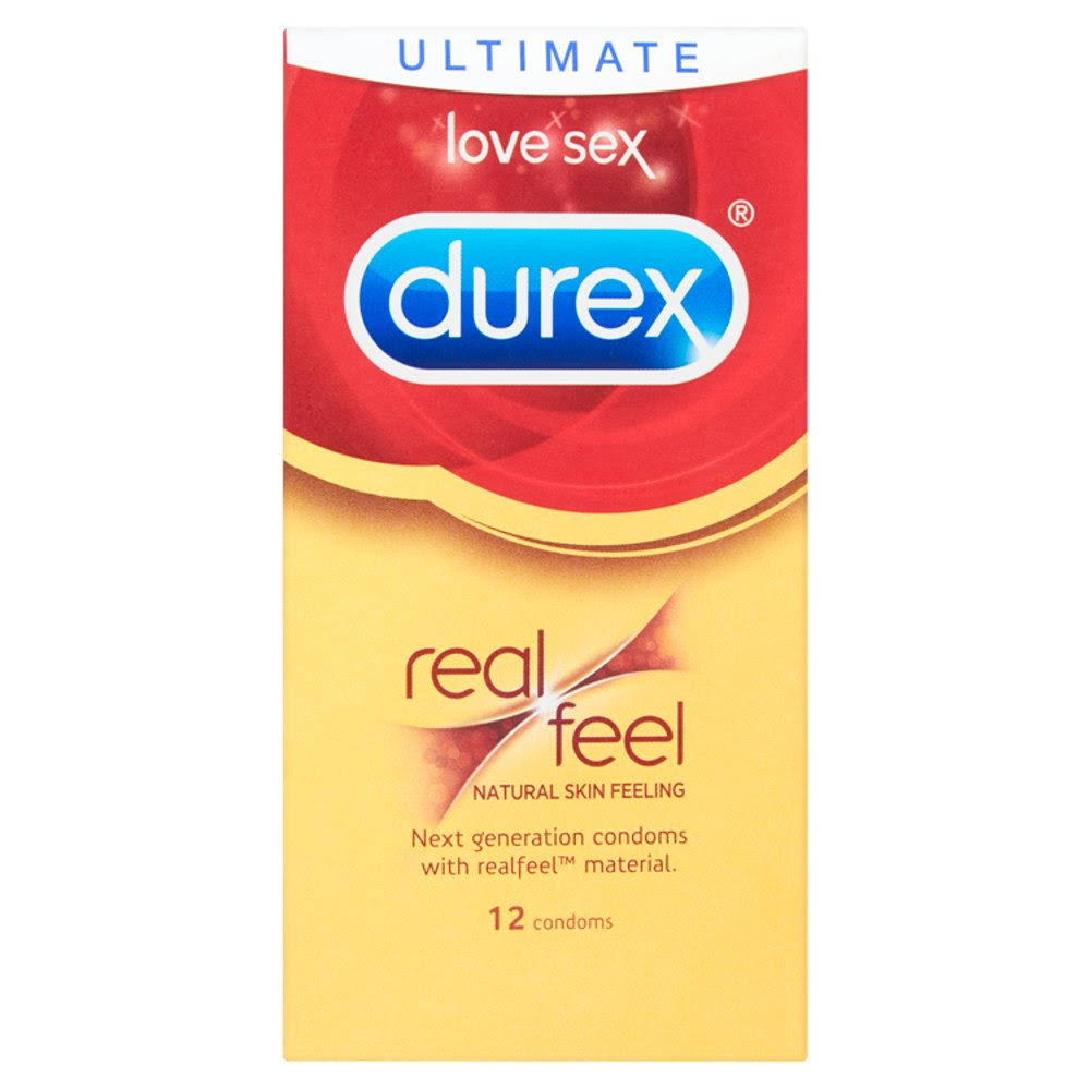 Durex Real Feel Condoms - 12 Pack