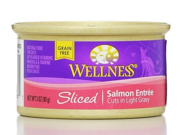 Wellness Natural Grain-Free Wet Canned Cat Food - Sliced Salmon Entree, 3oz