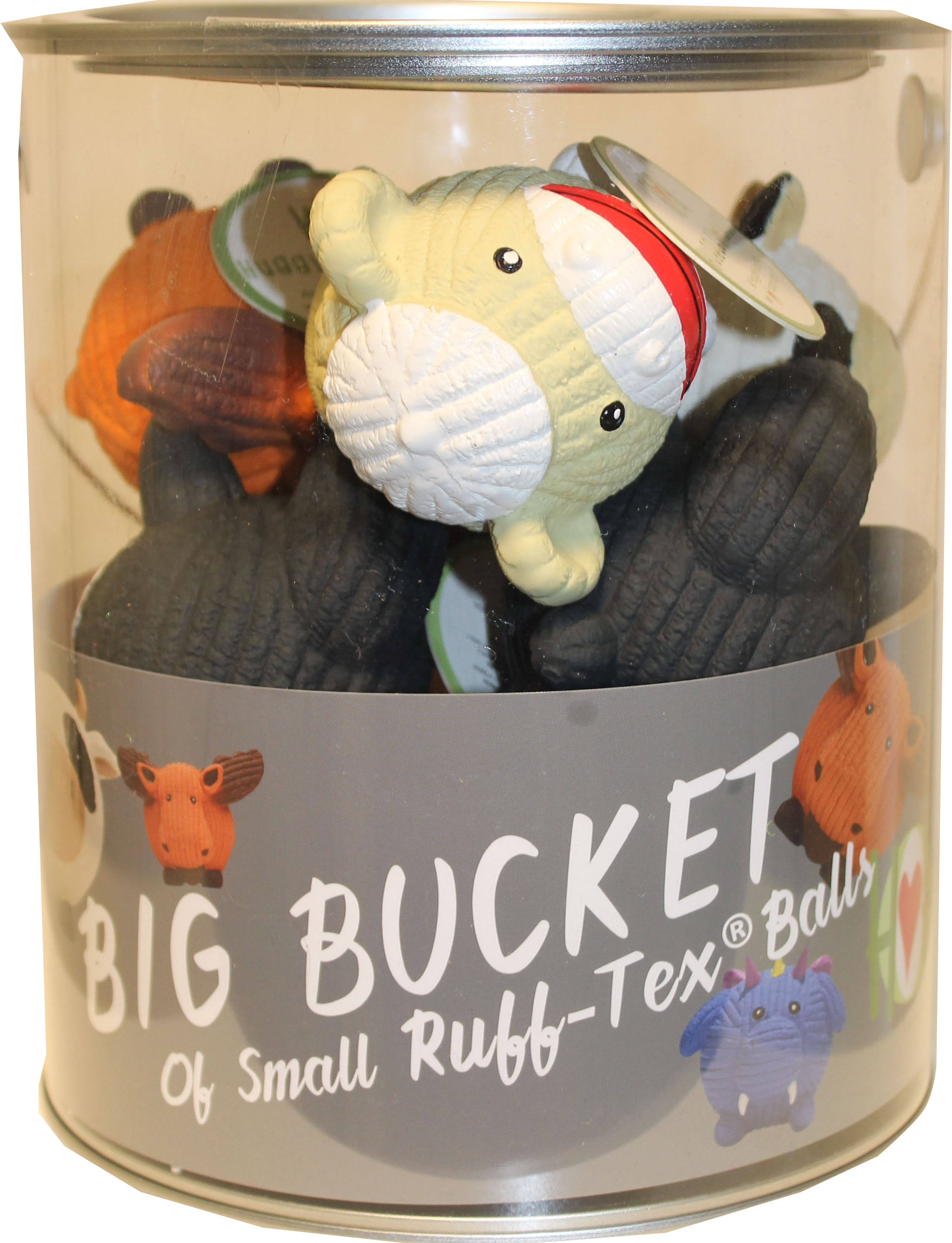 Huggle Hounds 51003694 Bucket of Latex Toys - 10 Count