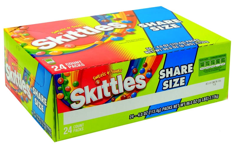 Skittles Sweets & Sours Candy - Share Size