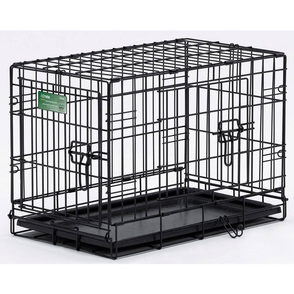 MidWest iCrate Double Door Folding Metal Dog Crate - 24''