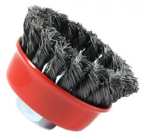 "Forney 72757 Wire Cup Brush - Knotted, with 5/8""-11 Threaded Arbor"