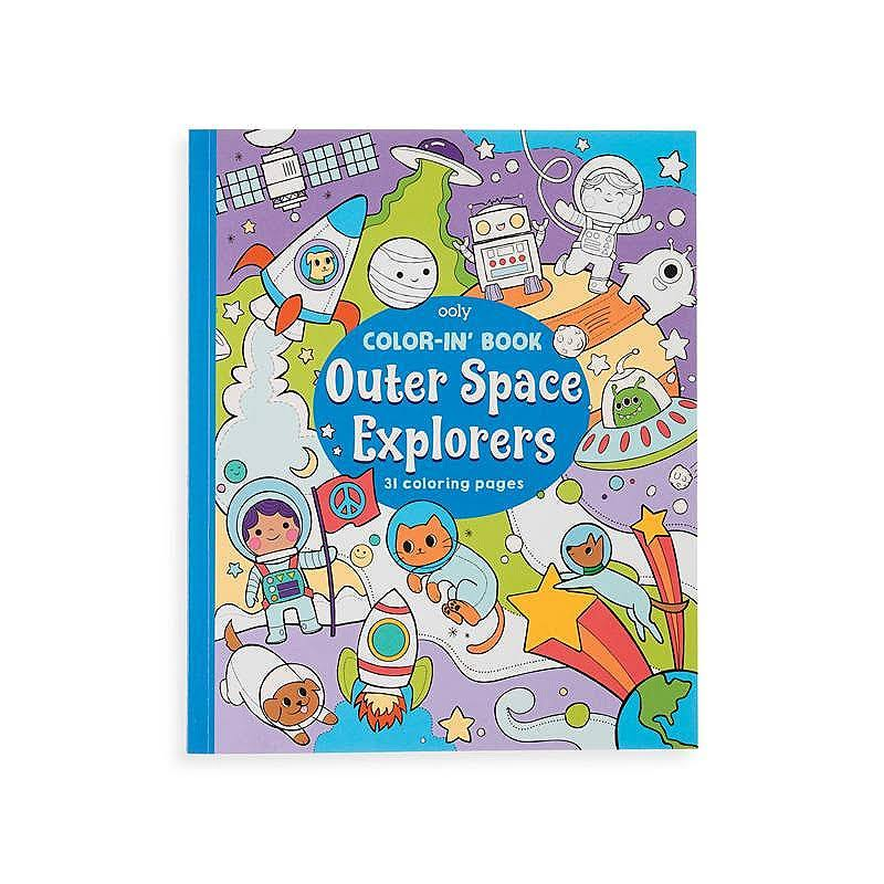 OOLY, Color-In' Book: Outer Space Explorers
