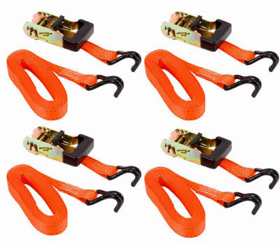 Keeper Ratchet Tie-Down - 4 Pack