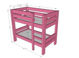 doll iphone u0026 ipad doll bunk beds furniture plans and ana white