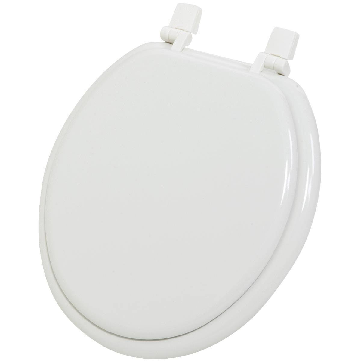 Do it Best Imports Round Wood Toilet Seat - White