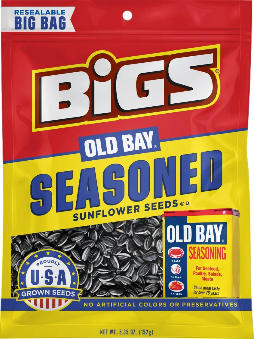 Bigs Old Bay Catch of the Day Seasoned Sunflower Seeds - 5.35oz
