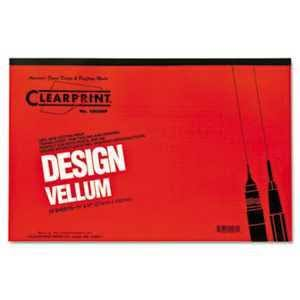 "Clearprint 10001416 Design Vellum Paper - 16lbs, White, 11""x17"", 50 Sheets"