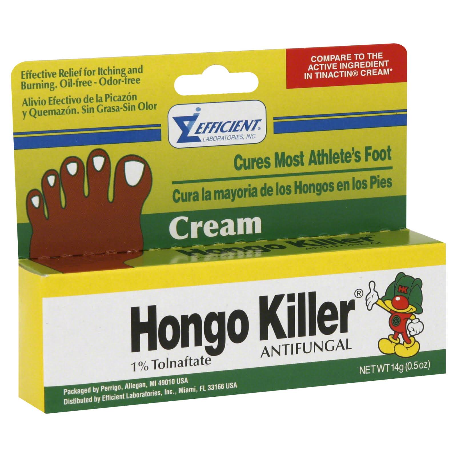 Hongo Killer Antifungal Cream - 0.50oz