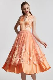 31662 new bloom collection sleeveless appliques orange special