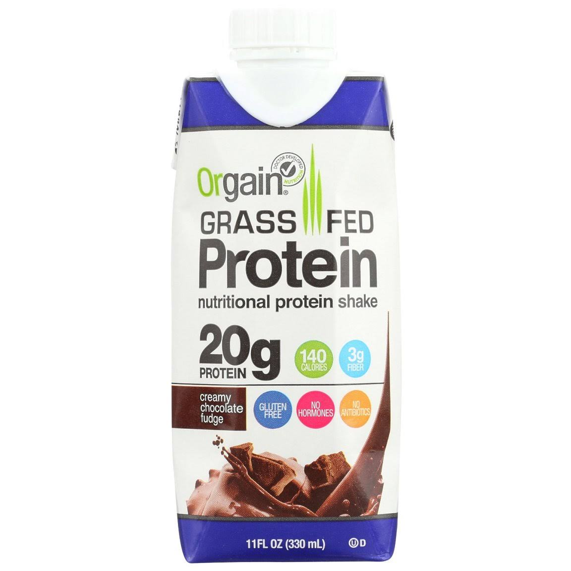 Orgain Clean Protein Protein Shake, Creamy Chocolate Fudge - 11 fl oz