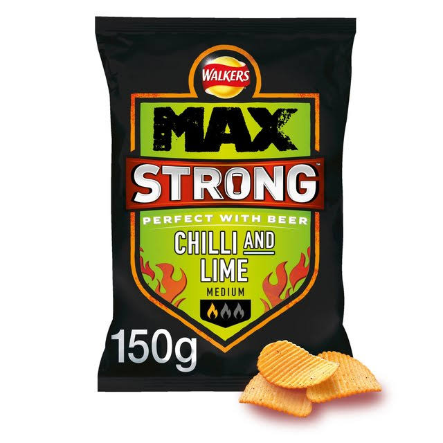 Walkers Max Strong Chilli and Lime Crisps - 150g
