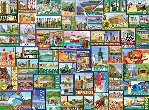 White Mountain America Jigsaw Puzzles Set - 1000pcs Set