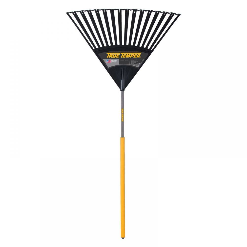 True Temper 2913912 Clog Free Poly Leaf Rake - Yellow, 30""