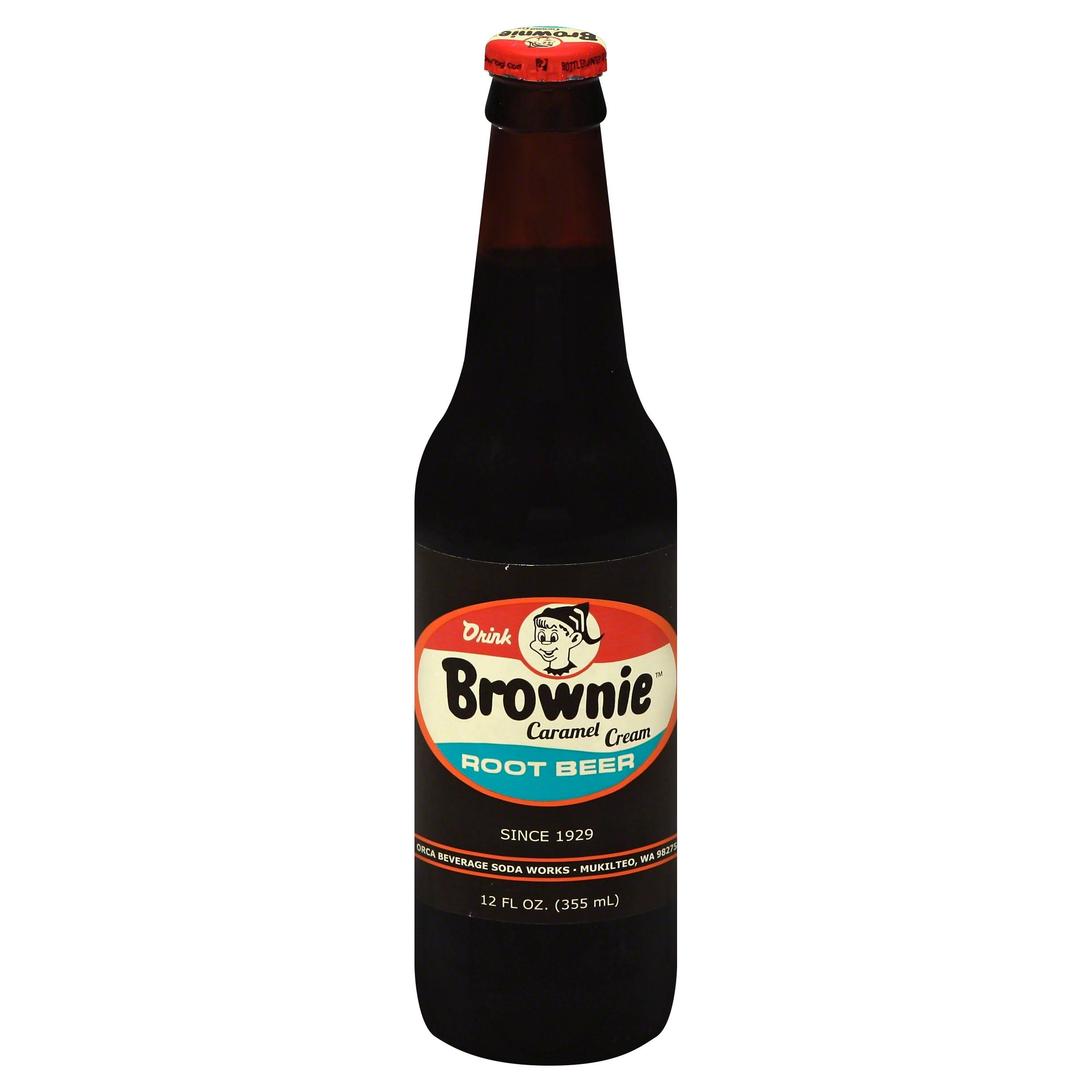 Brownie Root Beer, Caramel Cream - 12 fl oz