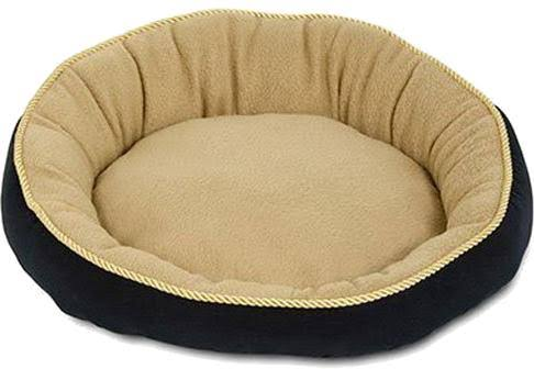 Aspen Pet Round Pet Bed - Navy, 18""