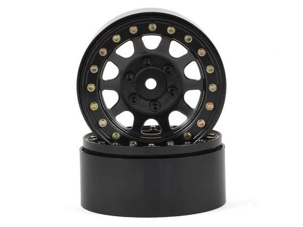SSD Steel Beadlock D Hole Wheels - Black, 12mm, 2pk, 1:10 Scale