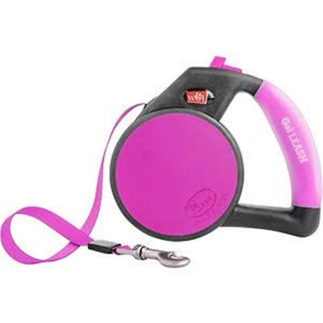 Wigzi Retractable Gel Leash - Pink, Small