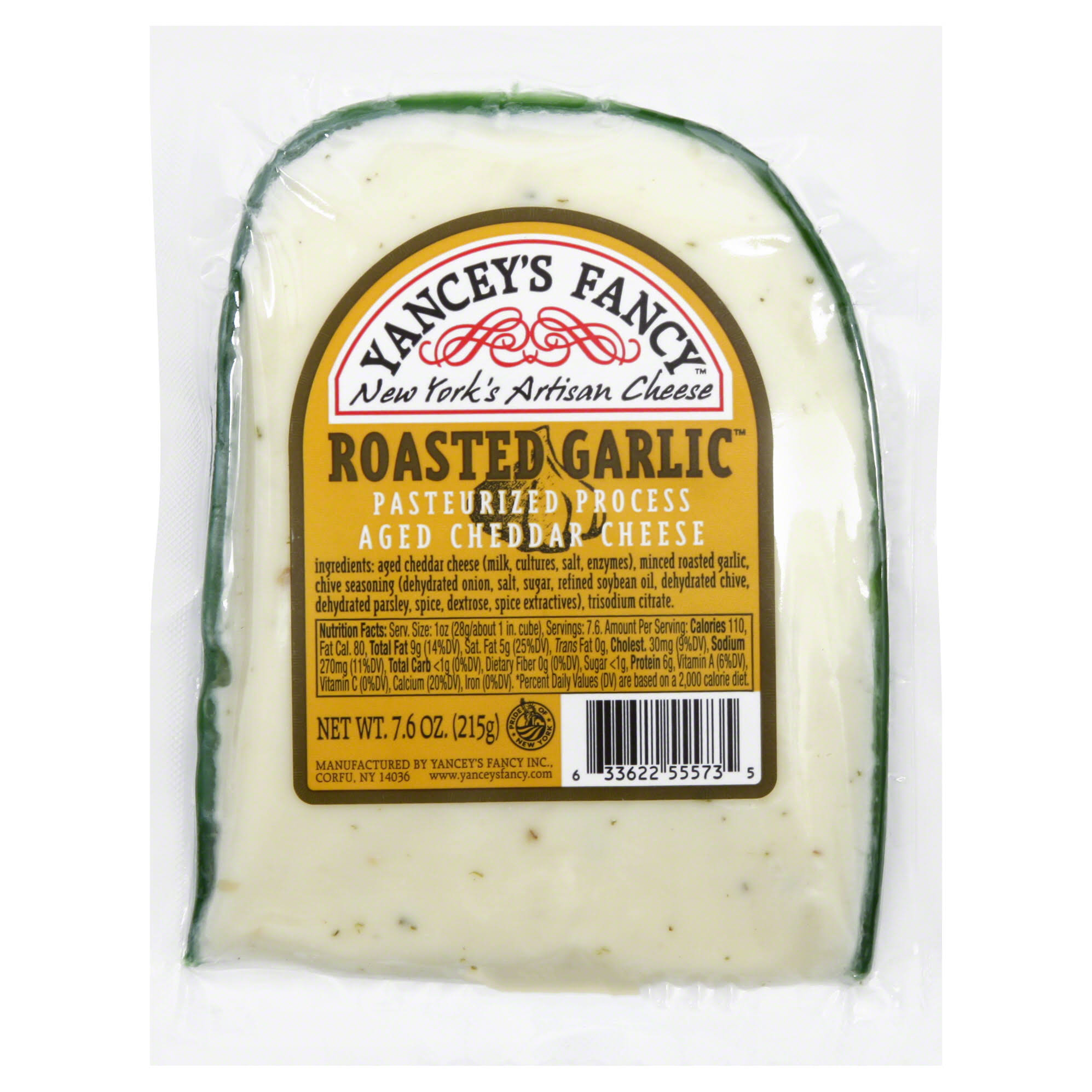 Yancey's Fancy Roasted Garlic New York Cheddar - 7.6oz