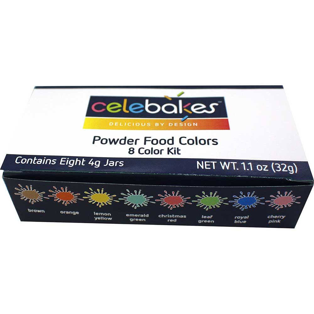 Celebakes Powdered Food Coloring Kit - 8 Color