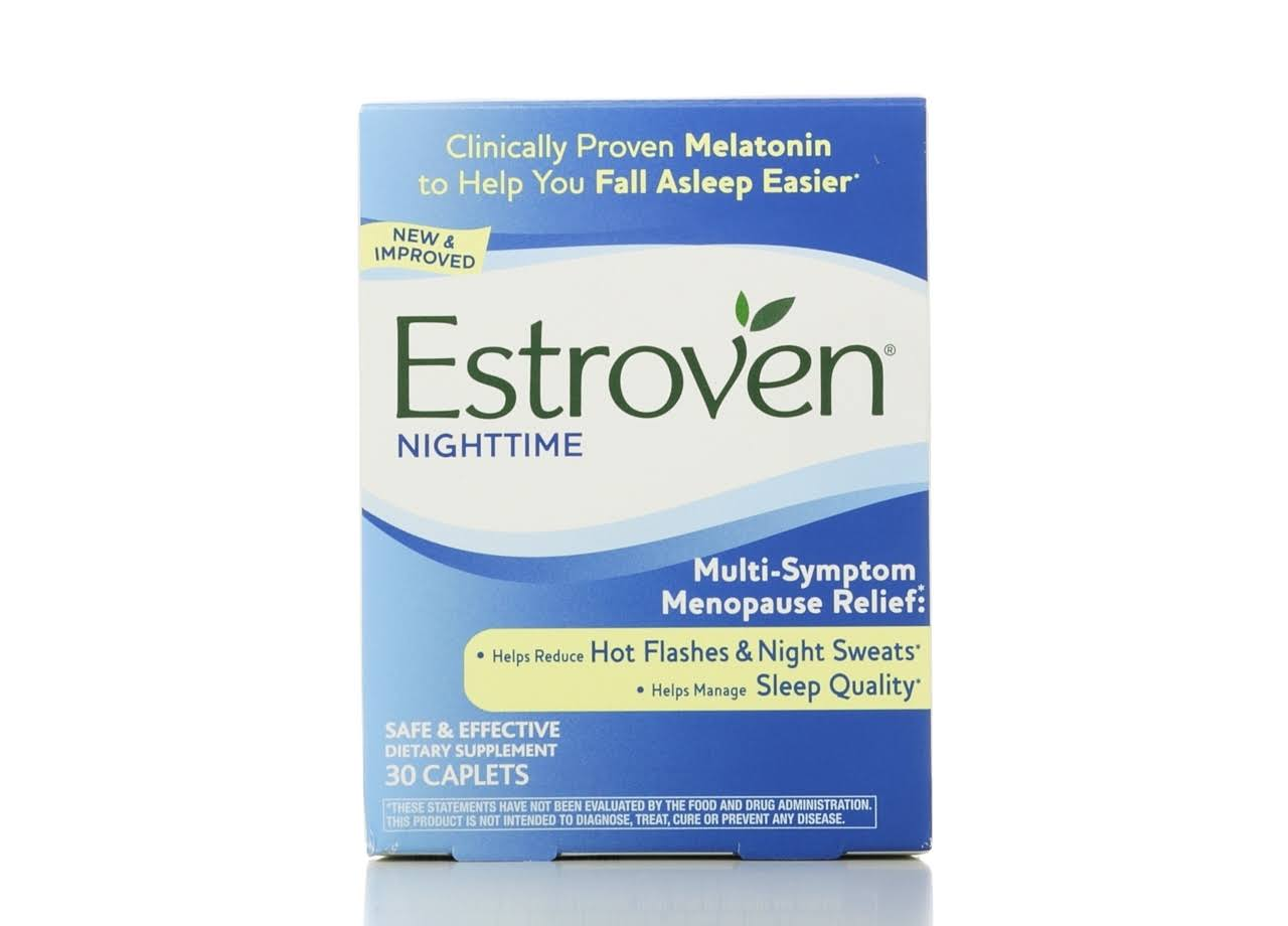 Estroven Nighttime Multi Symptom Menopause Relief Supplement - 30 Caps